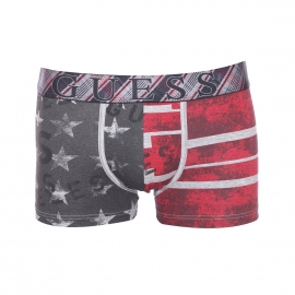 Boxer Guess en coton stretch à motif drapeau américain patiné