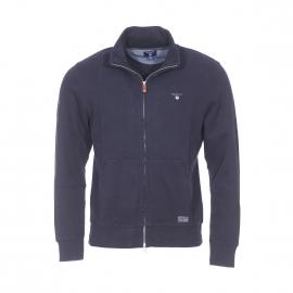 Gilet zippé Sacker Gant en coton bleu marine