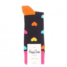 Chaussettes Happy Socks en coton peigné bleu marine à motifs cœurs multicolores