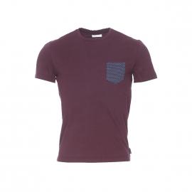 Tee-shirt Harris Wilson Perceval mûre à poche poitrine à motifs