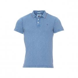 Polo Hilfiger Denim en coton flammé bleu indigo clair