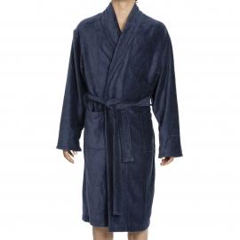 Peignoir de bain Roy Hom en éponge velours bleu acier
