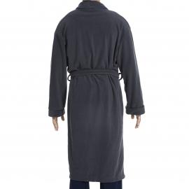 Robe de chambre Stephan Hom en micro polaire anthracite