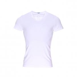 Tee-shirt col V Classic Hom en coton et modal blanc