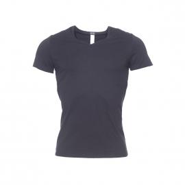 Tee-shirt col V Classic Hom en coton et modal noir