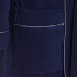 Veste d'intérieur Stephan Hom en micro polaire bleu marine