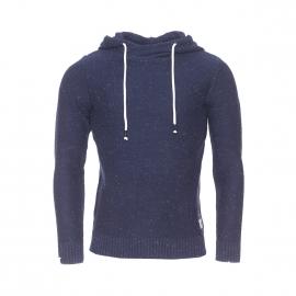 Pull à capuche Jack & Jones en coton bleu marine chiné