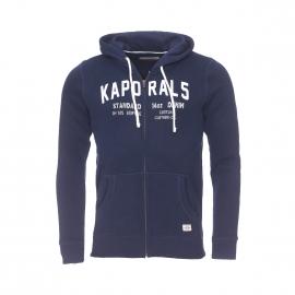 Sweat à capuche zippé Kaporal bleu marine brodé