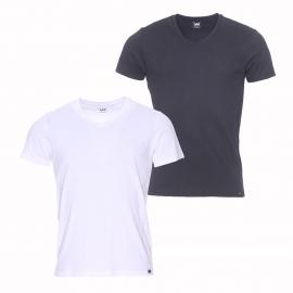 Lot de 2 tee-shirts col V Lee en coton noir et blanc