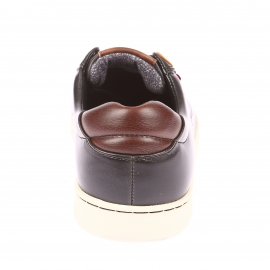 Baskets Tulare Low Lace Levi's en cuir noir et empiècements marron