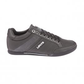 Baskets Turlock Refresh Levi's en cuir suédé noir et gris