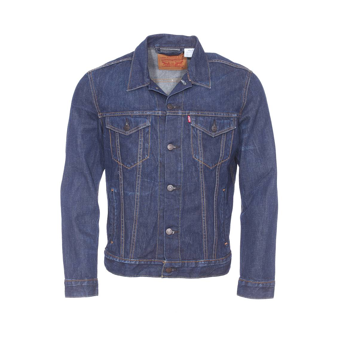 veste en jean trucker levi 39 s bleu brut rue des hommes. Black Bedroom Furniture Sets. Home Design Ideas