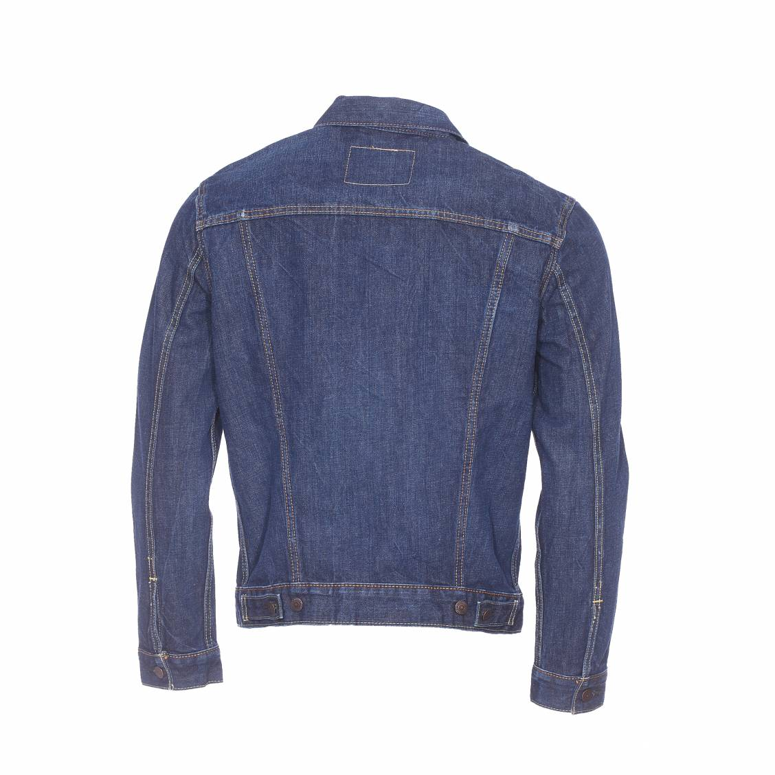 veste en jean trucker levi 39 s conifer bleu brut rue des hommes. Black Bedroom Furniture Sets. Home Design Ideas