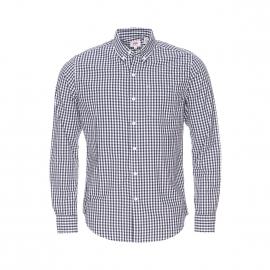 Chemise ajustée Levi's en coton à carreaux vichy bleu marine et blancs
