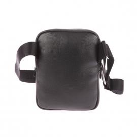 Sacoche Lacoste noire avec poche plaquée à l'avant
