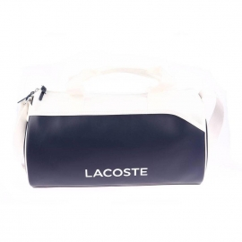 Sac week-end Lacoste Sport bleu marine et blanc