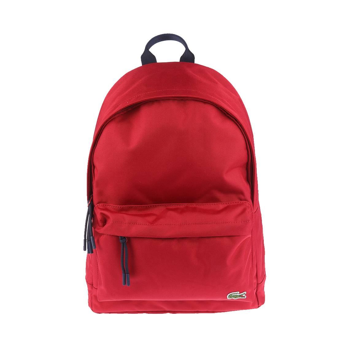 sac dos n ocroc lacoste en toile rouge rue des hommes. Black Bedroom Furniture Sets. Home Design Ideas