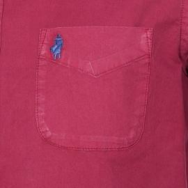 Chemise droite MCS en coton bordeaux