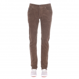 Pantalon droit MCS en velours marron