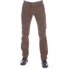 Pantalon droit MCS en velours marron
