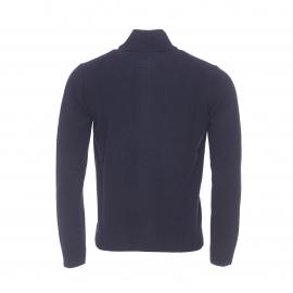 Gilet zippé MCS en laine bleu marine