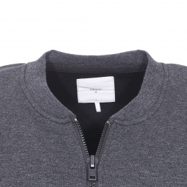 Sweat zippé col rond Garton Minimum gris anthracite chiné