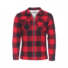Veste zippée Nash Minimum à carreaux rouges et noirs