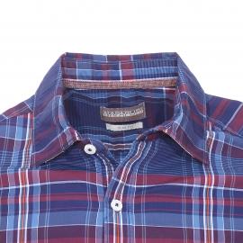 Chemise cintrée Napapijri en coton à carreaux bleus, bleu marine, bordeaux, blancs et orange