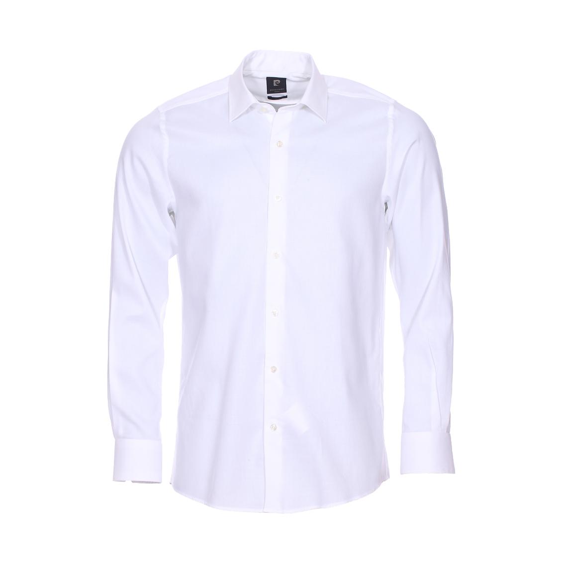 Chemise droite  en popeline de coton blanche
