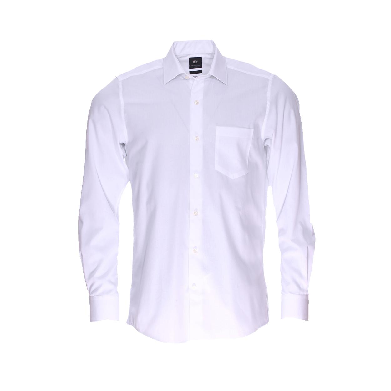 Chemise droite  en coton blanc