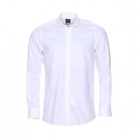 Chemise droite Pierre Cardin en popeline de coton blanche