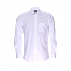 Chemise droite Pierre Cardin en coton blanc