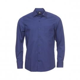 Chemise droite Pierre Cardin en coton bleu marine