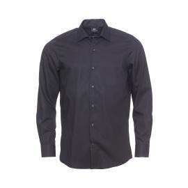 Chemise droite Pierre Cardin en coton noir