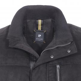 Manteau rembourré Pierre Cardin en micro suédé noir