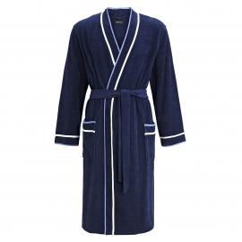 Robe de chambre Ringella en coton melangé bleu marine