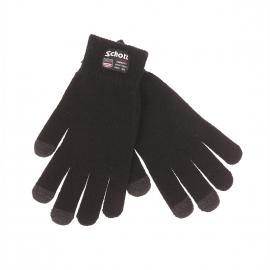 Gants Schott NYC noirs, spécial écran tactile