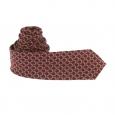 Cravate Scotch & Soda bordeaux à motifs écailles cuivrées