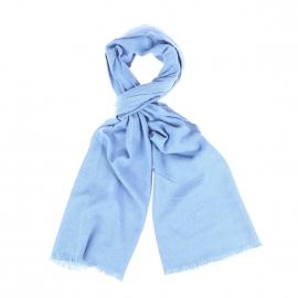 Echarpe Scotch & Soda en laine mélangée bleu ciel à légers motifs brodés