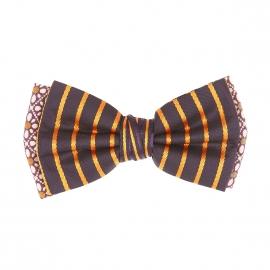 Nœud Papillon rétro Scotch & Soda à double nœud bordeaux, bleu marine et orange à motifs