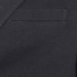 Blazer Selected en coton mélangé piqué noir