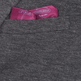 Blazer Selected gris anthracite chiné à pochette intégrée