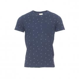 Tee-shirt col rond Selected bleu marine à motifs flèches