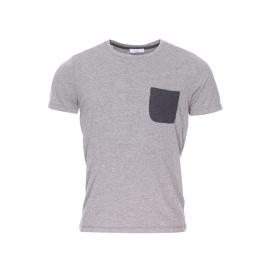 Tee-shirt col rond Selected gris moucheté