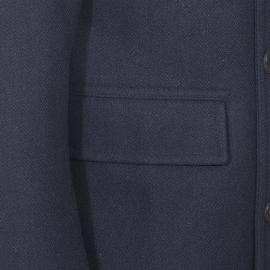 Caban Selected en laine mélangée bleu nuit