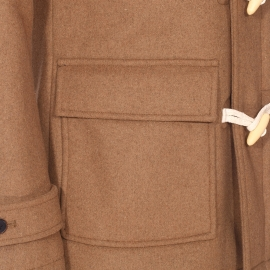 Duffle Coat à capuche Selected en laine camel