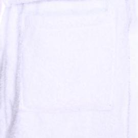 Peignoir de bain Serge Blanco blanc brodé en bleu marine