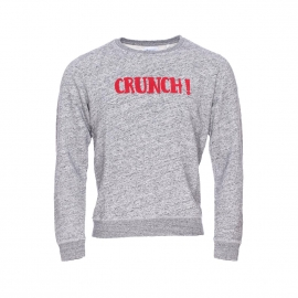 Sweat col rond Serge Blanco Rugby Life gris chiné