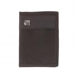 Portefeuille européen à 3 volets Urban Park Serge Blanco en tissu noir