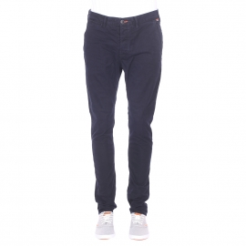 Pantalon chino Rookie Superdry en coton bleu marine